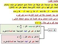 شرح مفصل لكيفية حل متراجحة مع تمثيلها بيانيا : e_online.JPG