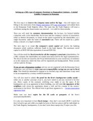 Procedures to establish a company in Romania.doc