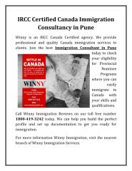 IRCC Certified Canada Immigration Consultancy in Pune.pdf