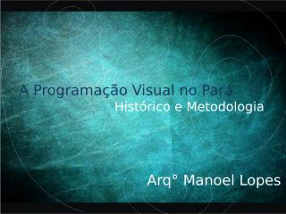 A Programação Visual no Pará.ppt
