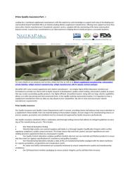 Prime Quality Assurance Part - I.docx