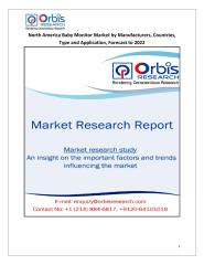 North America Baby Monitor Market by Manufacturers, Countries, Type and Application, Forecast to 2022.pdf